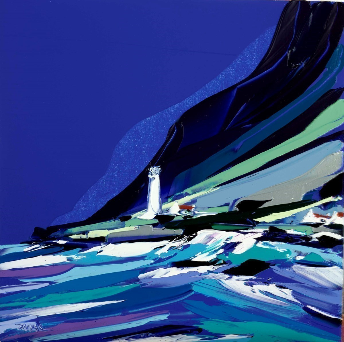 A lone Lighthouse  by Duncan MacGregor -  sized 18x18 inches. Available from Whitewall Galleries
